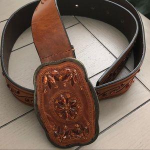 Wilson's Leather Cognac Jewel Leather Belt M